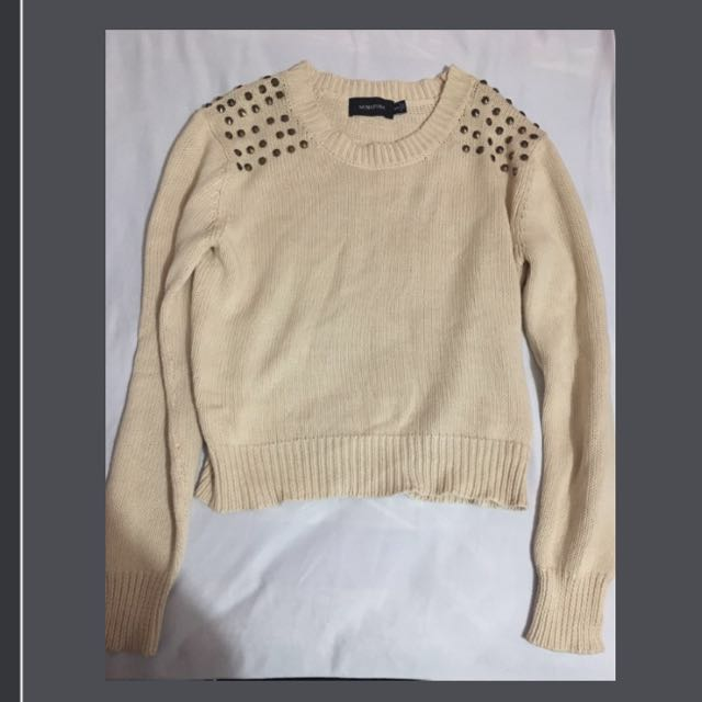 Minkpink Cream Knitted Top