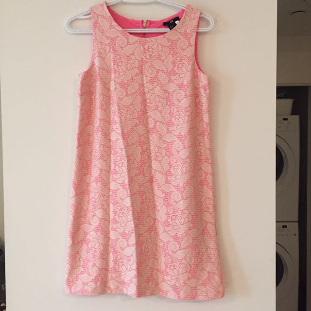 Neon and white dress - size 4