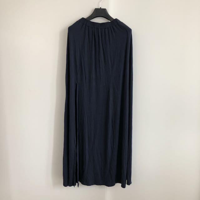 New! A&F Navy Maxi Skirt