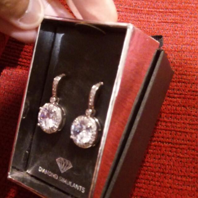 New Diamond Simulant Earrings