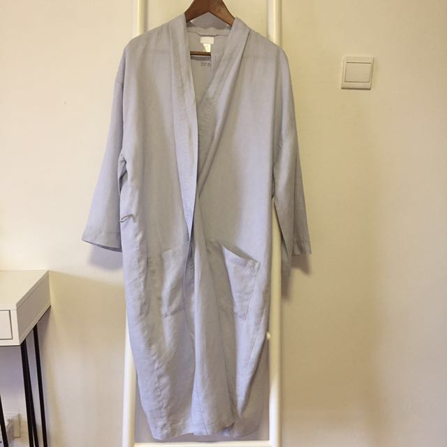 4a7bf4c10d New H M Stone Washed Linen Robe S
