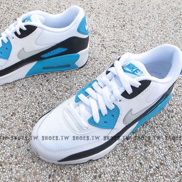 Nike air max 藍白拼色球鞋