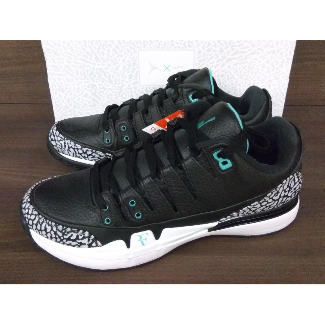 eb2cfc72e02d4 Nike Zoom Vapor Air Jordan 3 X Roger Federer X Atmos
