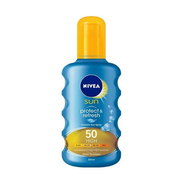 Nivea Sun Invisible Protection Transparent Spray Spf 50 200 Ml