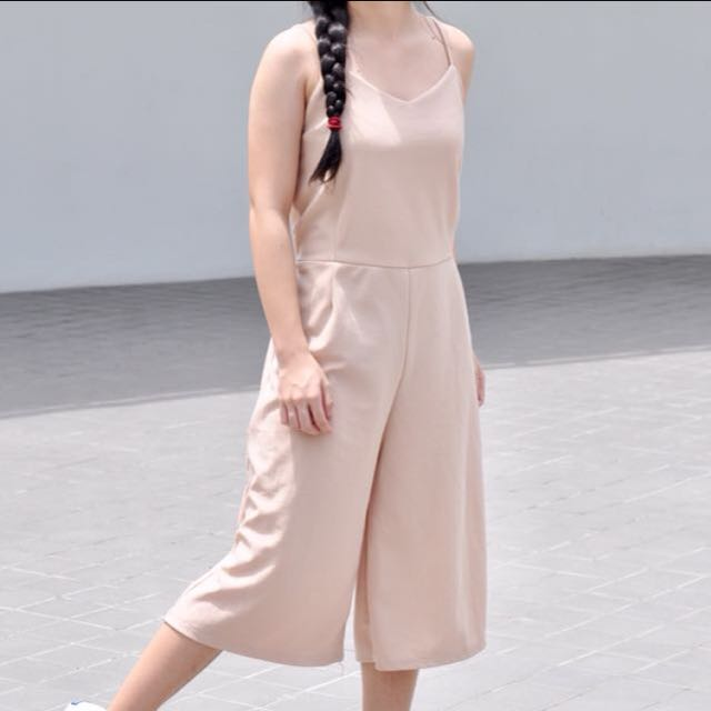 Nude Jumpsuit Culottes (REPRICED!!)