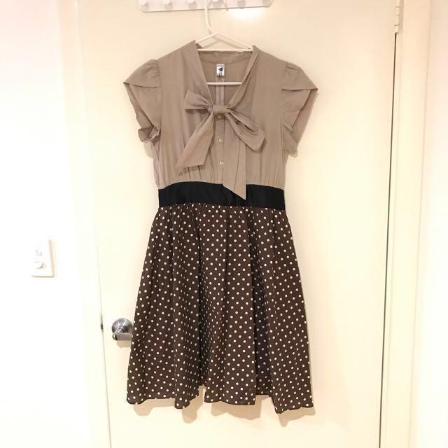 One piece polka dot dress