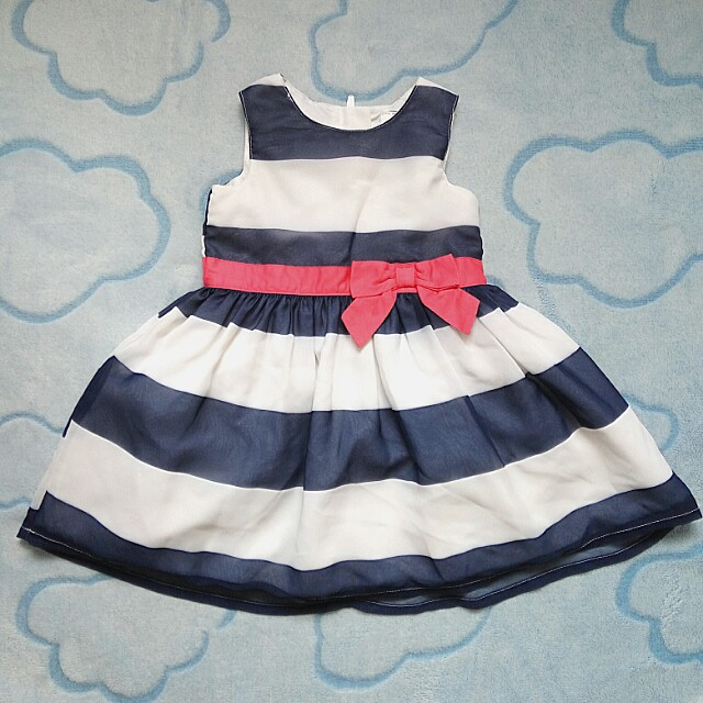 Original Carter's Navy Stripes Dress preloved