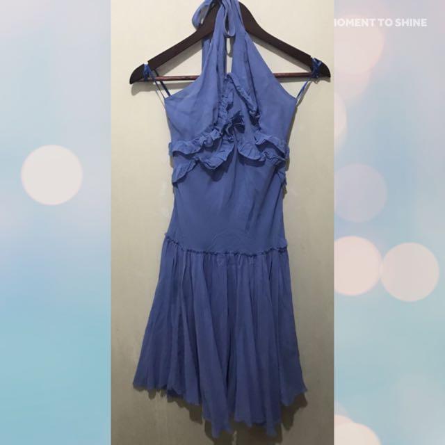 Patricia Baby Blue Powder Chiffon Dress