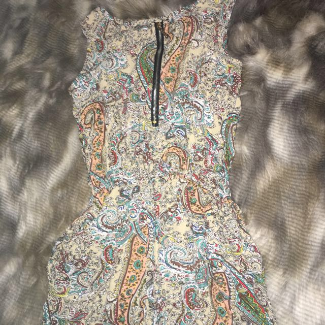 Patterned Play suit size- M