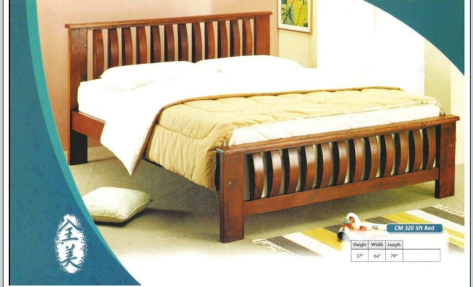 Perabot Murah Katil Kayu Queen Model 320 Home Furniture On Carou