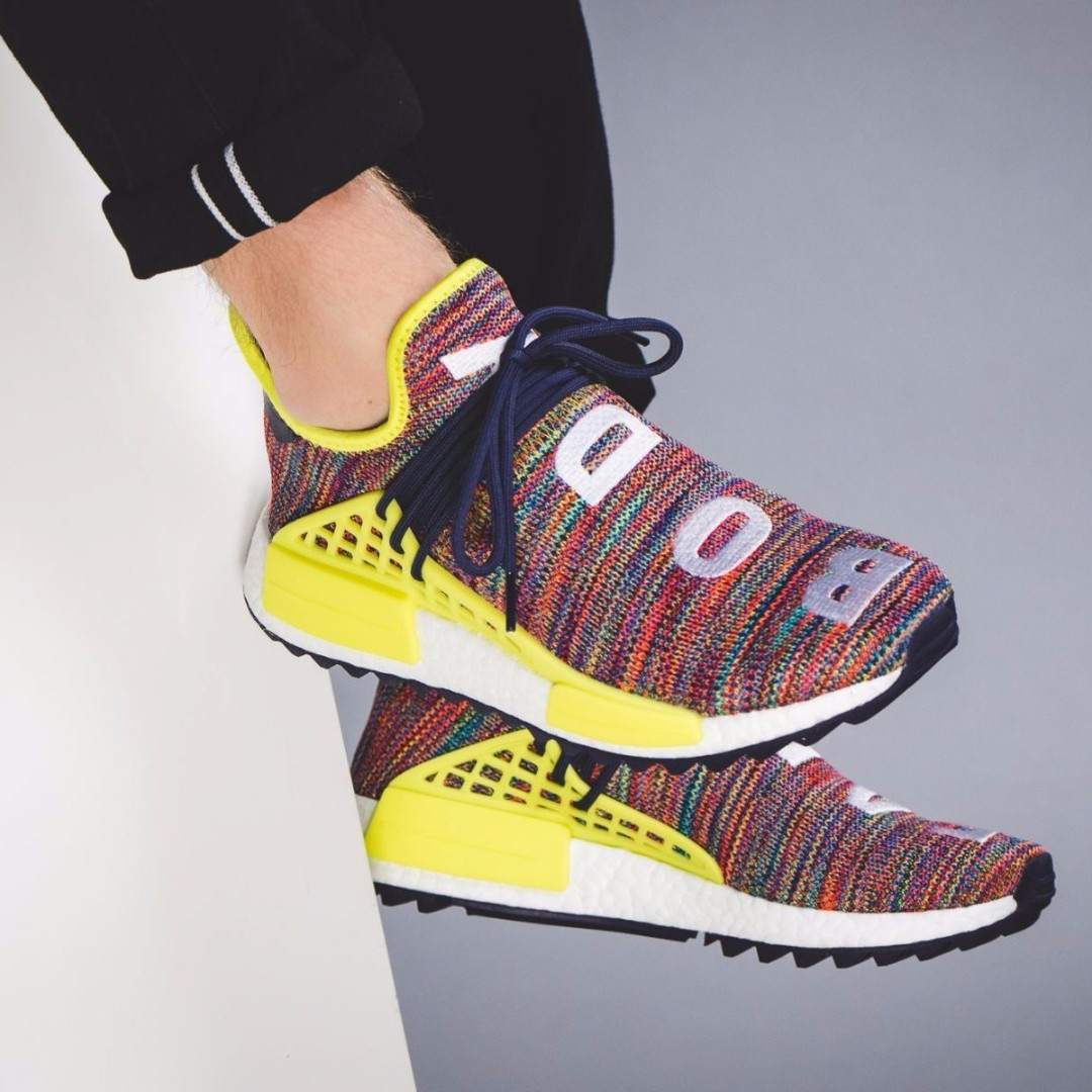"""69a957a20 PHARRELL X ADIDAS NMD HU TRAIL """"HIKING"""" PACK Noble Ink   Bold Yellow ..."""