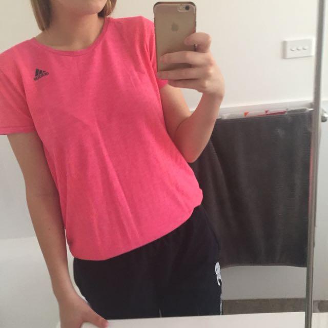 Pink Adidas Top
