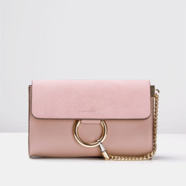 Pink leather bag Chloe Faye inspired
