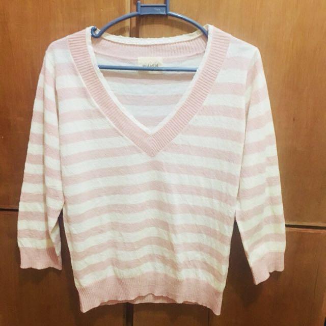 Pink Stripes Sweater