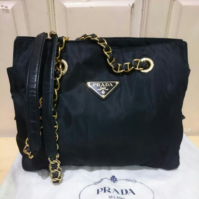 bc894af7be7a ... authentic prada chain bag preloved womens fashion bags wallets on  carousell 724b2 49c8b