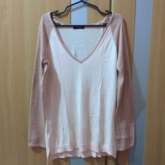 Promod Peach Vneck sweater