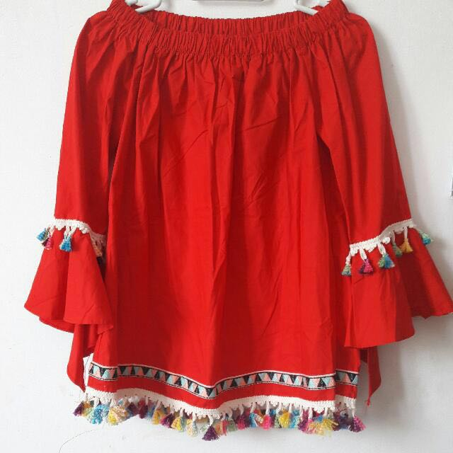Red Blouse By CookieHijab