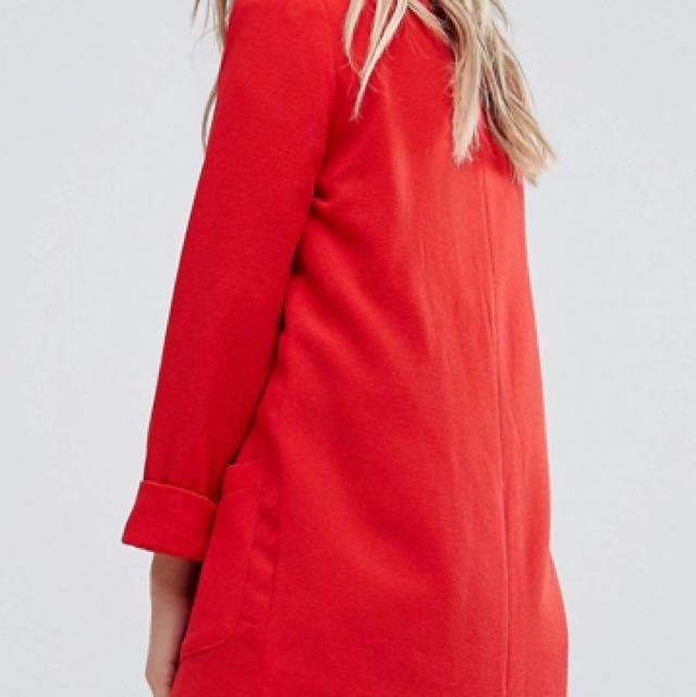 Red Pimkie blazer size Large