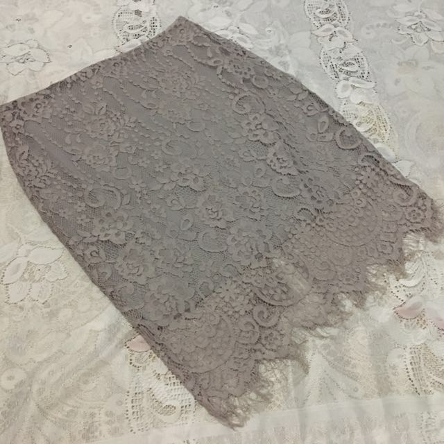 ‼️Repriced‼️Old Rose/Violet Korean Laced Skirt