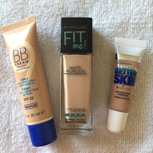 Rimmel & Maybelline Foundation, BB cream & Concealer
