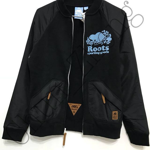 全新-Roots 棒球外套