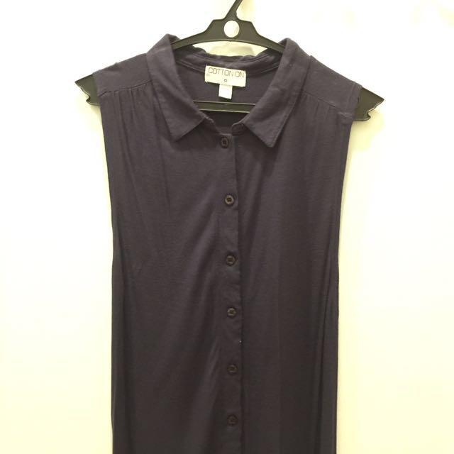 SALE!!! Cotton ON collared sleeveless top
