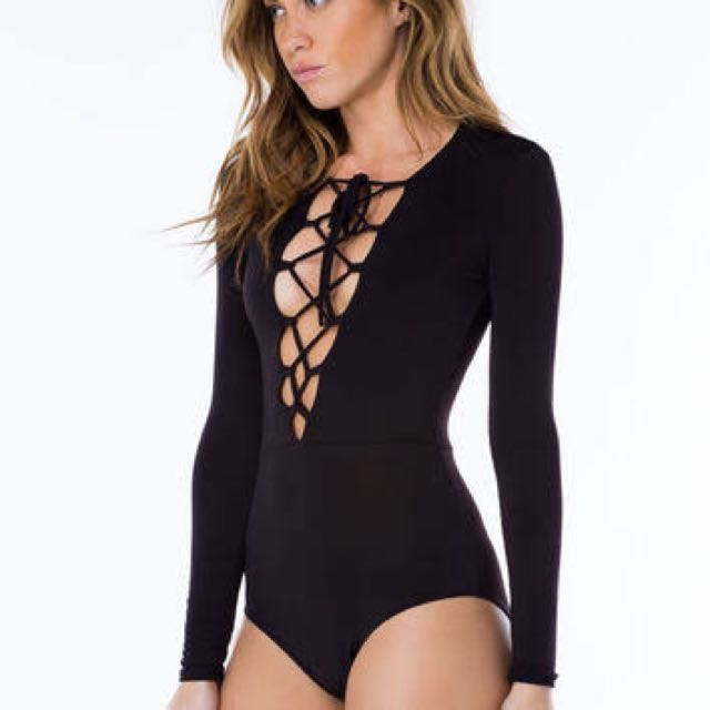 Seed Heritage-Lace-Up Bodysuit