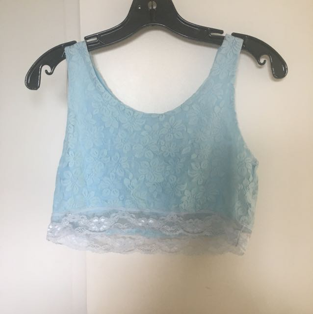Set of two lace crop tops
