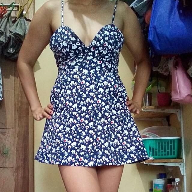 Sexy floral mini dress