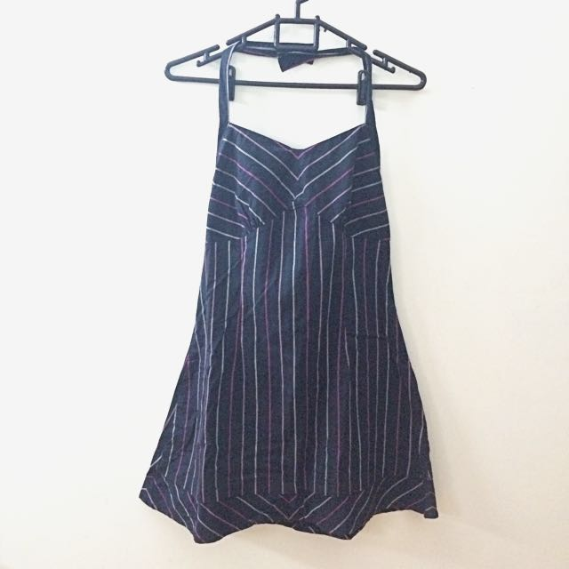 Stripe Halter Strap Dress