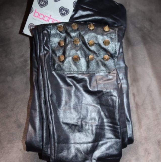 Studded Boohoo leggings