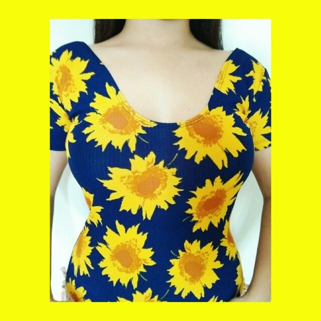 Sunflower top(when worn)