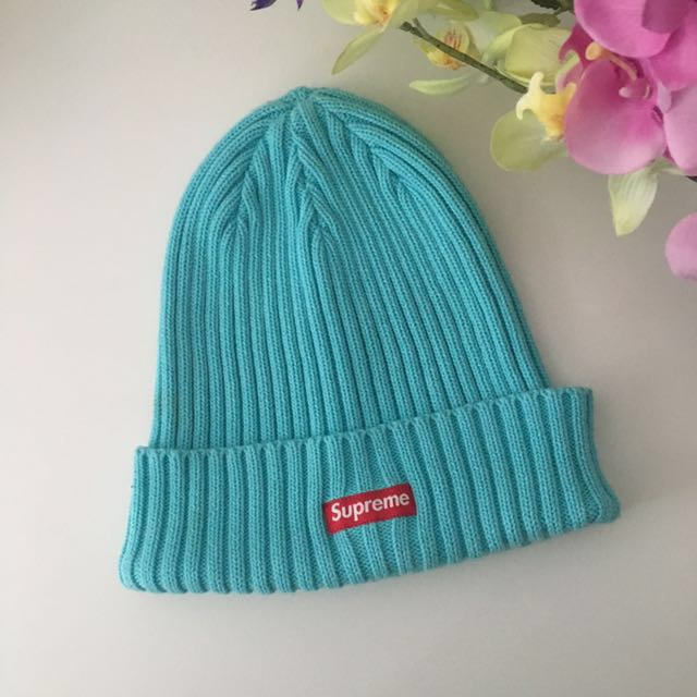 1032e956904 SUPREME Overdyed Ribbed Beanie in Blue