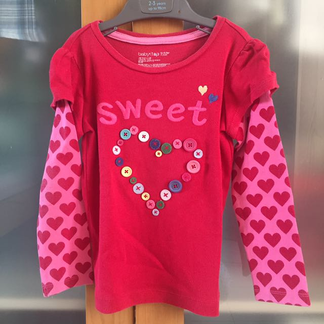 sweet heart red long sleeves t-shirt
