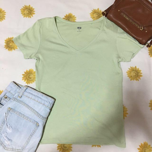Uniqlo Light Green T-shirt