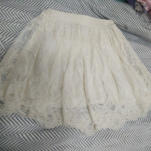 UO Pins and Needles Lace Skirt