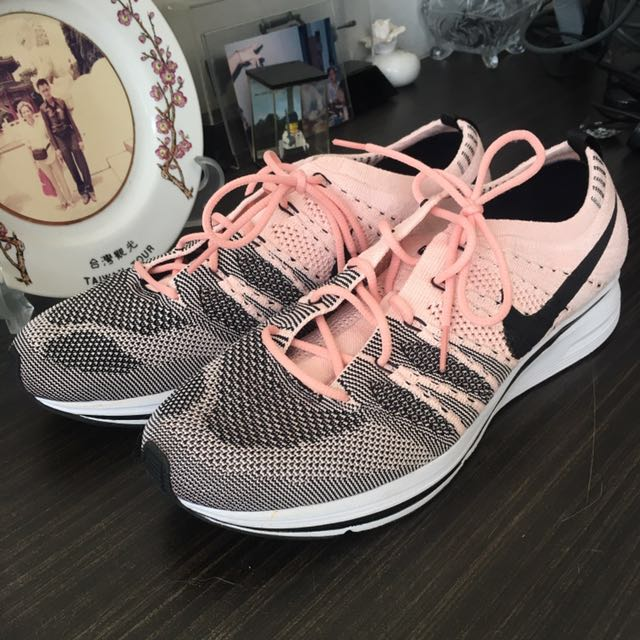 256f0ab5fa5f Us9.5 nike flyknit trainers sunset tint pink