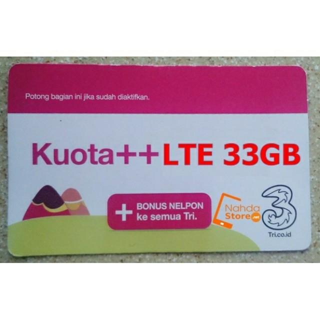 Voucher three 33gb
