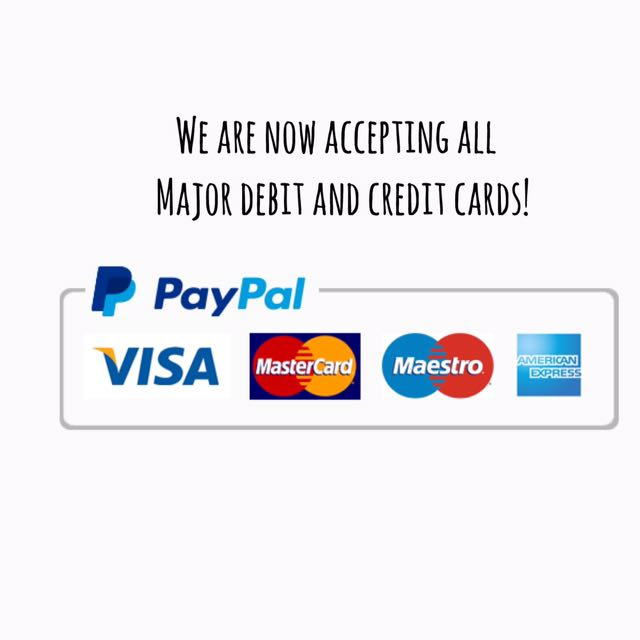 We accept cards!