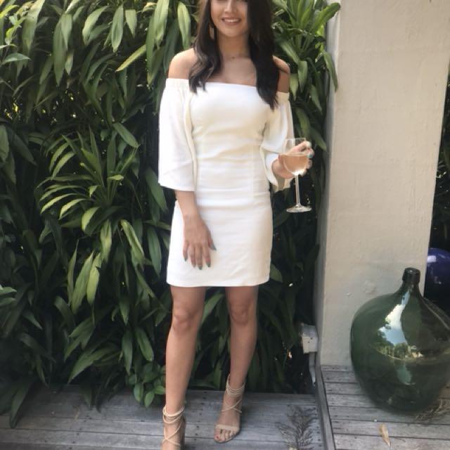White miss shop dress