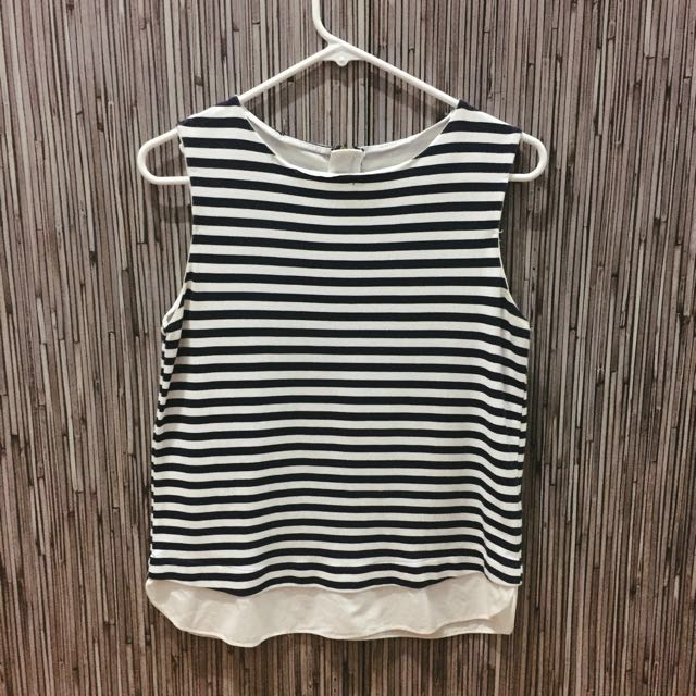 Zara Striped Sleeveless Top
