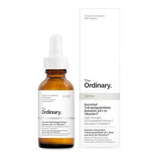 Instock Ascorbyl Tetraisopalmitate 20% in Vitamin F