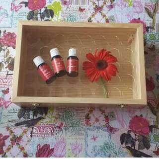 Wooden box for essential oil. Young living
