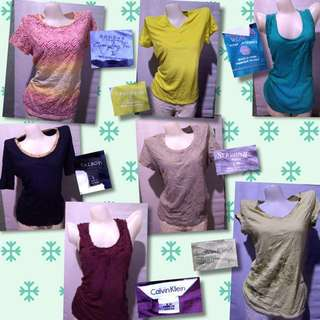 Tops 100 each, 2 for 180