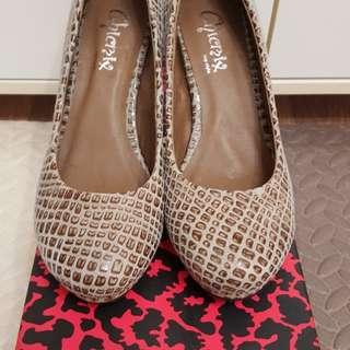豹紋高踭鞋