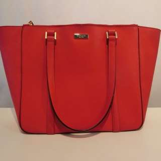 Kate Spade – Newbury Lane Briar Saffiano Leather Tote in Red
