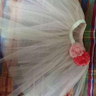 Tutu Skirt (peach) with flowers