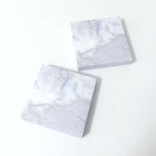 [INSTOCK] Marble Notepads 100 by 100mm, 200 pieces each stack.