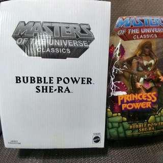 MASTERS OF THE UNIVERSE CLASSICS : BUBBLE POWER SHE - RA (not Marvel Legends, DC, Heman)