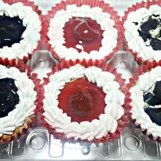 Baked Cheesecake Cupcakes (Blueberry, Cherry, Oreo)
